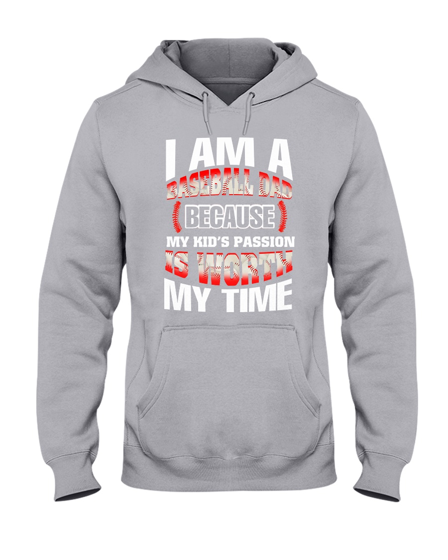 I AM A BASEBALL DAD Hooded Sweatshirt