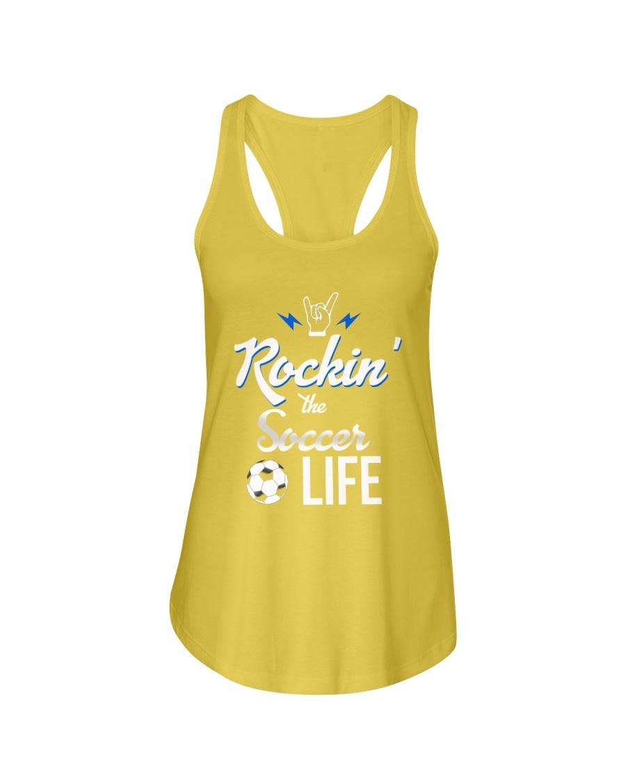 Rockin- The Soccer- Life Ladies Flowy Tank