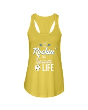 Rockin- The Soccer- Life Ladies Flowy Tank front