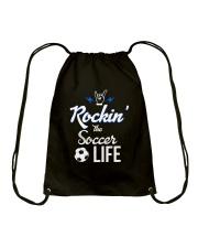 Rockin- The Soccer- Life Drawstring Bag thumbnail