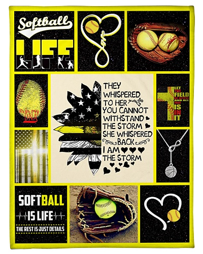 Softball They Whispered To Her Graphic Design