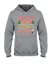I just want to bake stuff Hooded Sweatshirt front