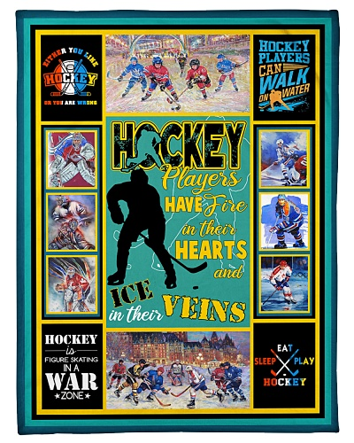Hockey Players Have Fire In Hearts Graphic Design