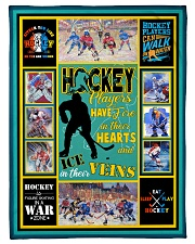 "Hockey Players Have Fire In Hearts Graphic Design Small Fleece Blanket - 30"" x 40"" front"