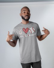 Baseball Peace Love Classic T-Shirt apparel-classic-tshirt-lifestyle-front-32