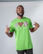 Baseball Peace Love Classic T-Shirt apparel-classic-tshirt-lifestyle-front-32