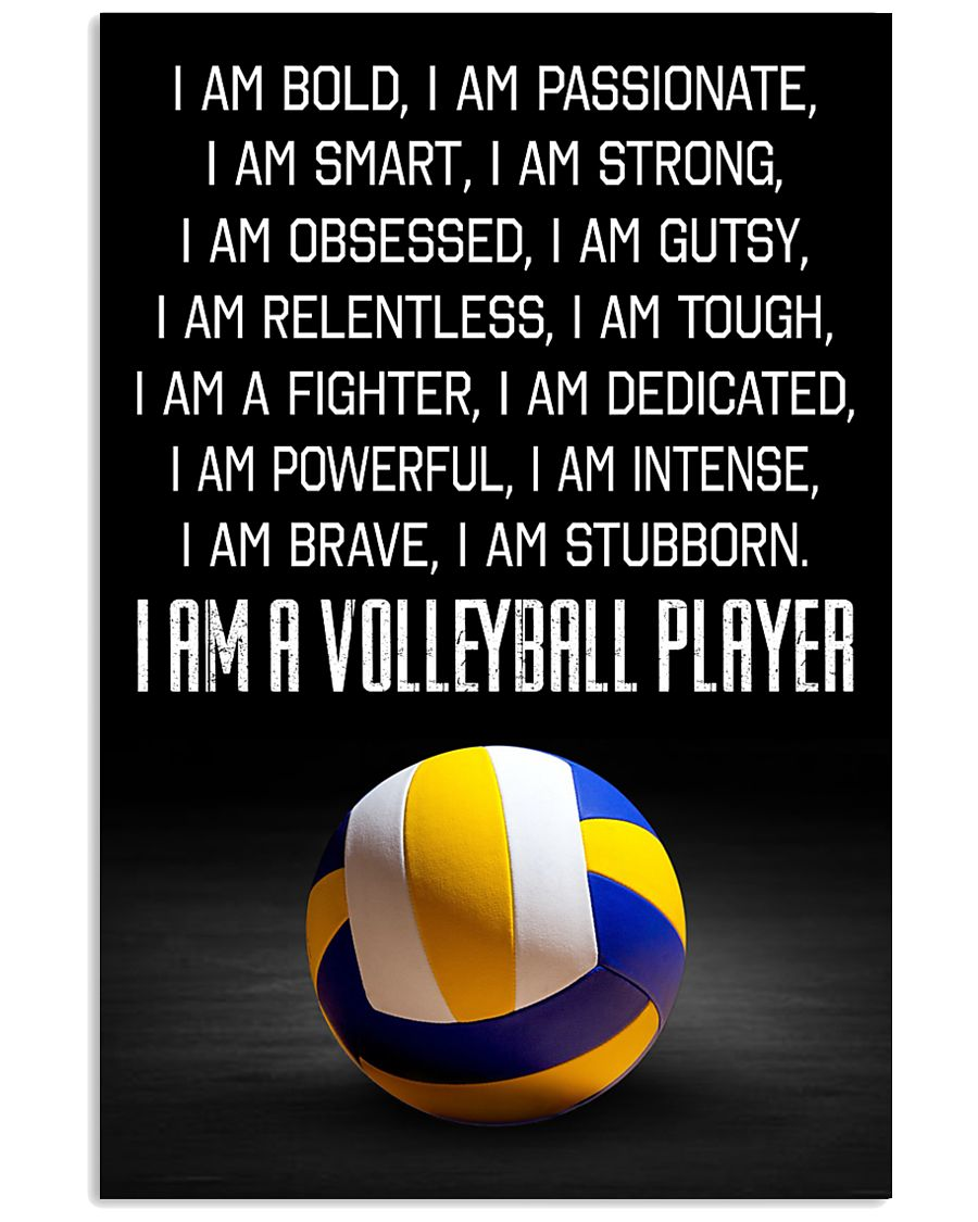 I'm A Volleyball Player 11x17 Poster