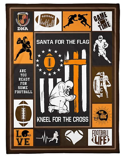 Football Funny Santa For The Flag Graphic Design