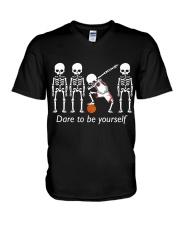 Basketball Dab Dare You V-Neck T-Shirt thumbnail