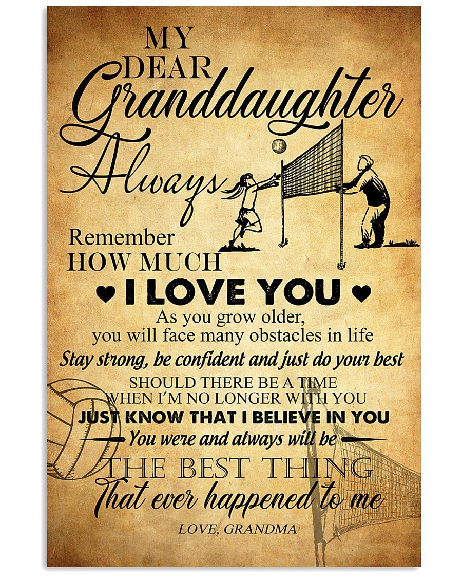 Volleyball Dear My Granddaughter 16x24 Poster