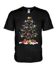 Motorcycle Christmas V-Neck T-Shirt thumbnail