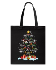 Motorcycle Christmas Tote Bag thumbnail