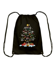 Motorcycle Christmas Drawstring Bag thumbnail