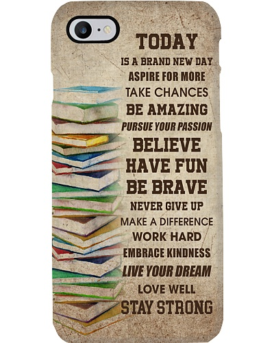 Books Today Is A Brand New Day Phone Case