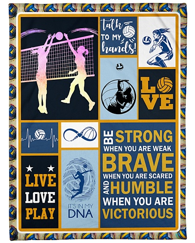 Volleyball Funny Blanket Be Strong Graphic Design