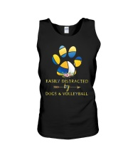 Easily Distracted By Dogs And Volleyball  Unisex Tank thumbnail