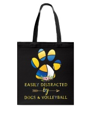 Easily Distracted By Dogs And Volleyball  Tote Bag thumbnail