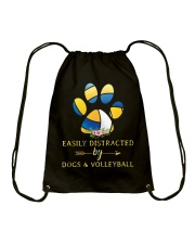 Easily Distracted By Dogs And Volleyball  Drawstring Bag thumbnail