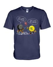 Hockey She Loves Me More V-Neck T-Shirt thumbnail