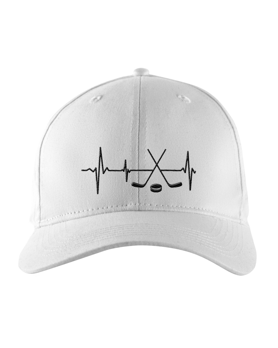 Hockey Hearbeat Embroidered Hat