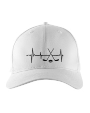 Hockey Hearbeat Embroidered Hat front