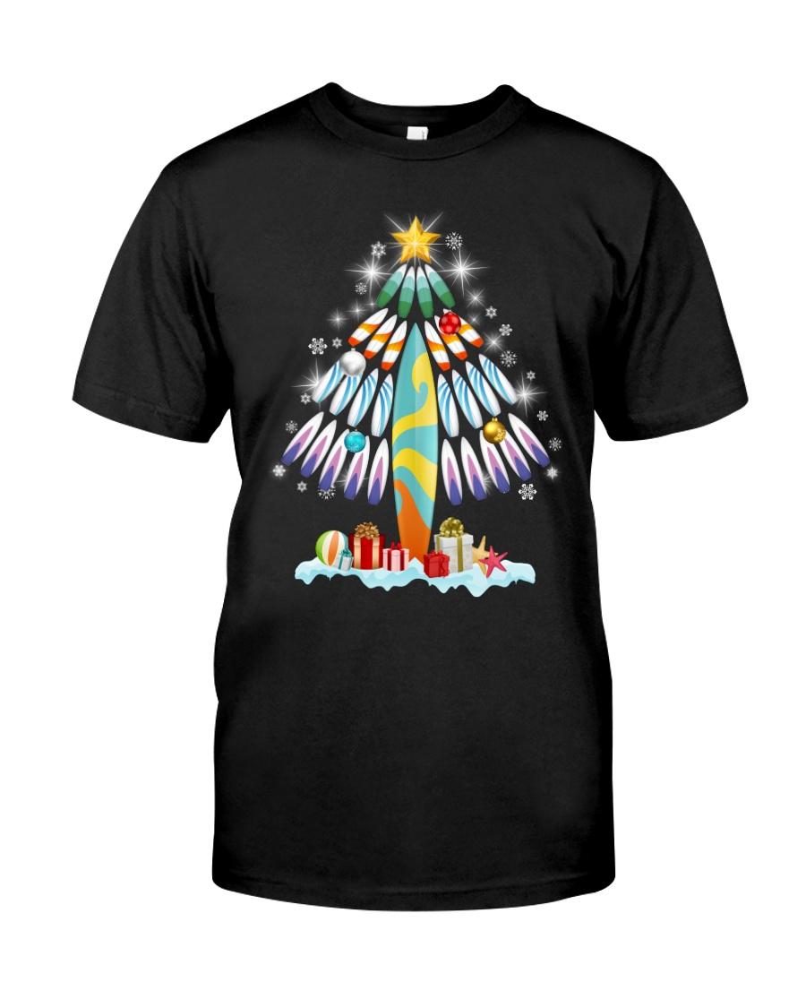 Surfing Christmas Tree  Classic T-Shirt