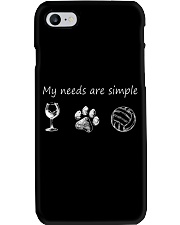 My Needs Are Simple Volleyball Phone Case thumbnail