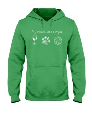 My Needs Are Simple Volleyball Hooded Sweatshirt front