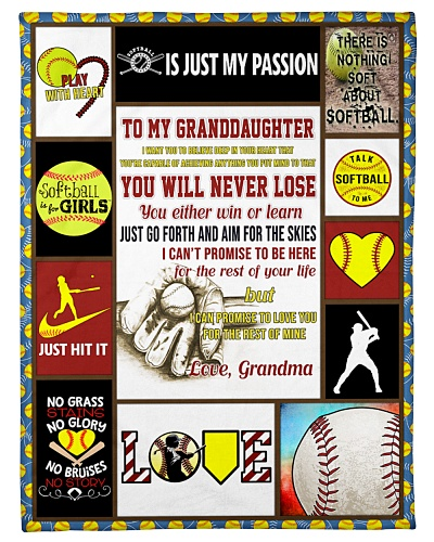 Softball Funny To My Granddaughter Graphic Design