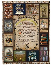 """Books All I Want In Life Is Large Fleece Blanket - 60"""" x 80"""" thumbnail"""
