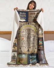 """Books All I Want In Life Is Large Sherpa Fleece Blanket - 60"""" x 80"""" aos-sherpa-fleece-blanket-60x80-lifestyle-front-16"""