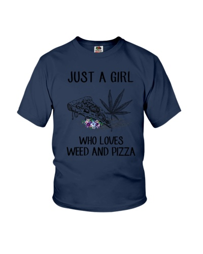 A Girl Loves Weed And Pizza
