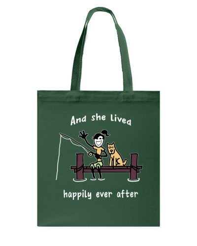 Fishing-she lived happily