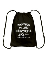 Powered By Motocross Drawstring Bag thumbnail