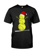 Softball Christmas  Classic T-Shirt front