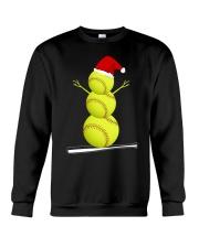 Softball Christmas  Crewneck Sweatshirt thumbnail