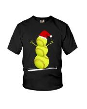 Softball Christmas  Youth T-Shirt thumbnail