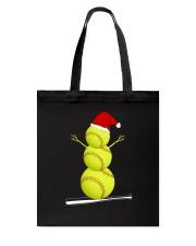 Softball Christmas  Tote Bag thumbnail