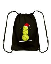 Softball Christmas  Drawstring Bag thumbnail