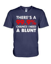 WEED - CHANCE I NEED A BLUNT V-Neck T-Shirt thumbnail
