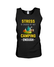 Stress is caused by not camping enough Unisex Tank thumbnail
