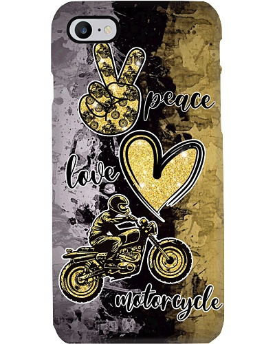Motorcycle - Peace -Love- Phone case