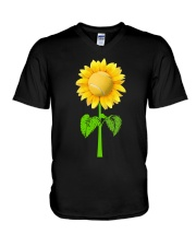 Tennis Beauty Sunflower  V-Neck T-Shirt thumbnail
