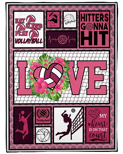 Volleyball Funny Blanket Love Graphic Design