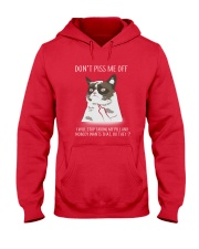 Cats--Don't Piss Me Hooded Sweatshirt front