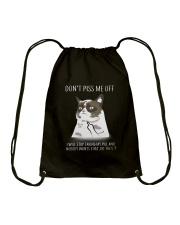 Cats--Don't Piss Me Drawstring Bag thumbnail