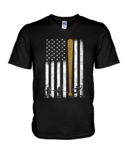Baseball Flag America V-Neck T-Shirt thumbnail