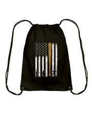 Baseball Flag America Drawstring Bag thumbnail