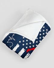 "Baseball Blue Flag Large Fleece Blanket - 60"" x 80"" aos-coral-fleece-blanket-60x80-lifestyle-front-07"