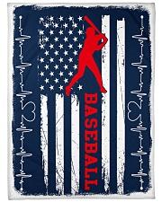 """Baseball Blue Flag Large Fleece Blanket - 60"""" x 80"""" front"""
